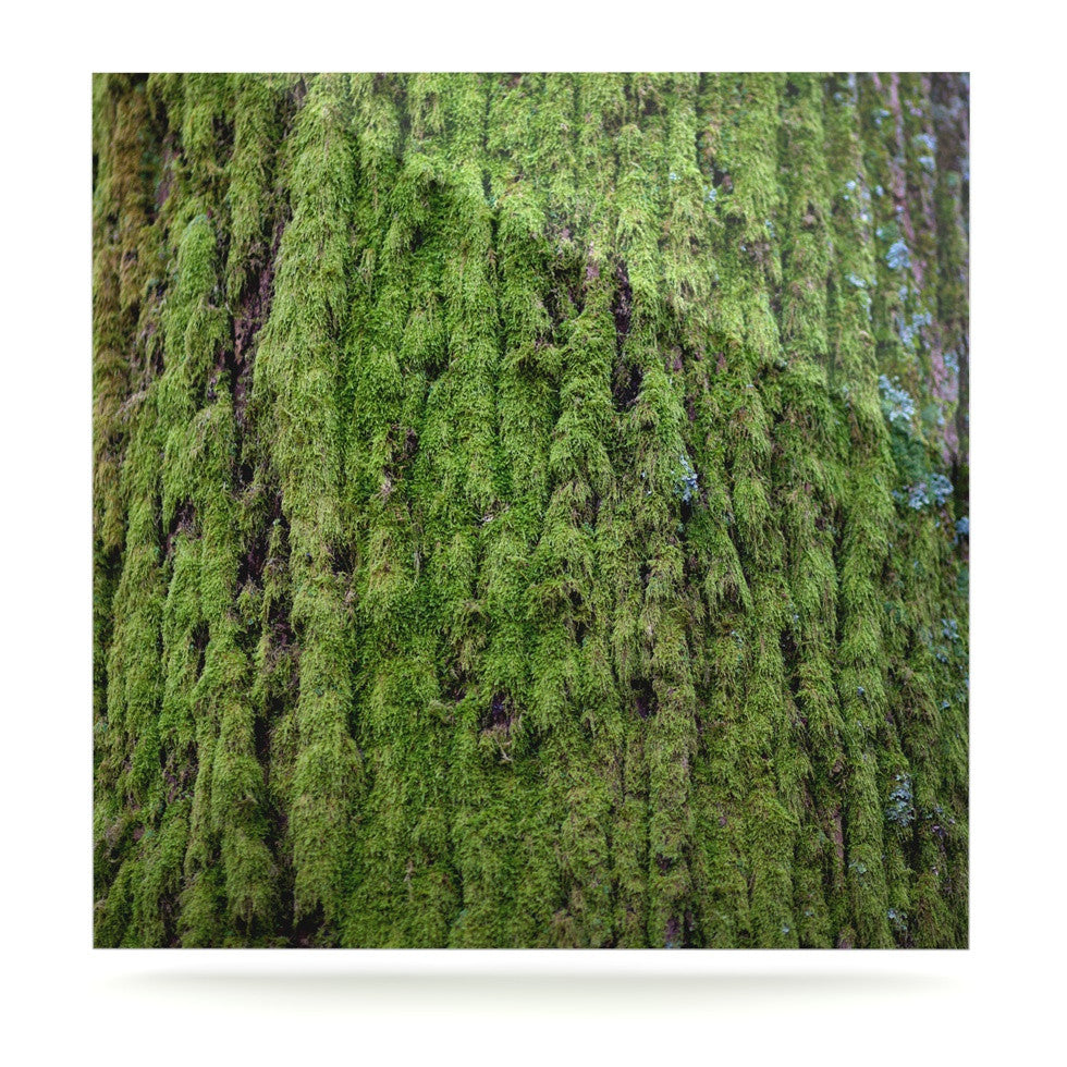 "Susan Sanders ""Emerald Moss"" Green Nature Luxe Square Panel - KESS InHouse  - 1"