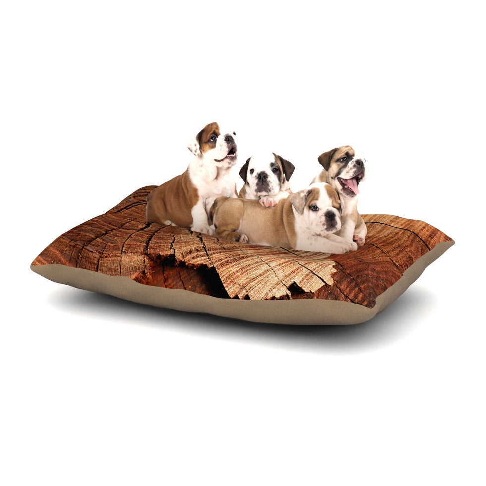 "Susan Sanders ""Rustic Dream"" Brown Wood Dog Bed - KESS InHouse  - 1"