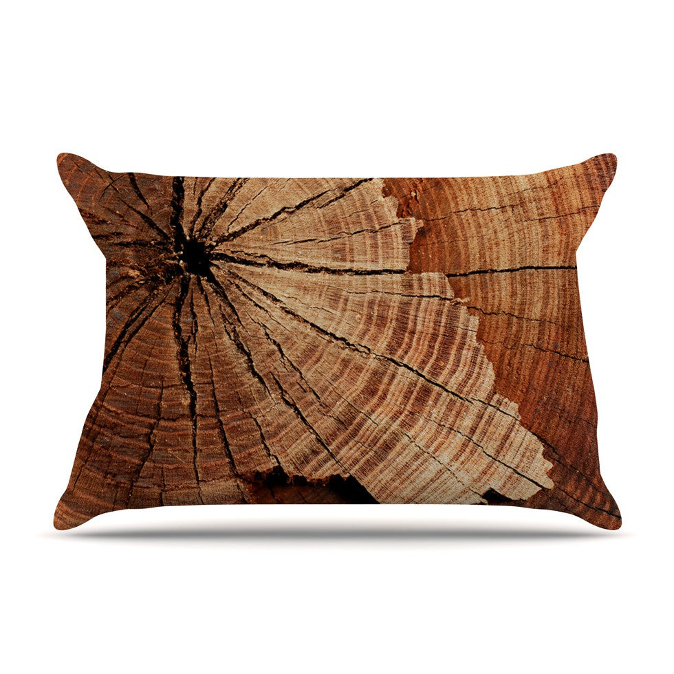 "Susan Sanders ""Rustic Dream"" Brown Wood Pillow Sham - KESS InHouse"