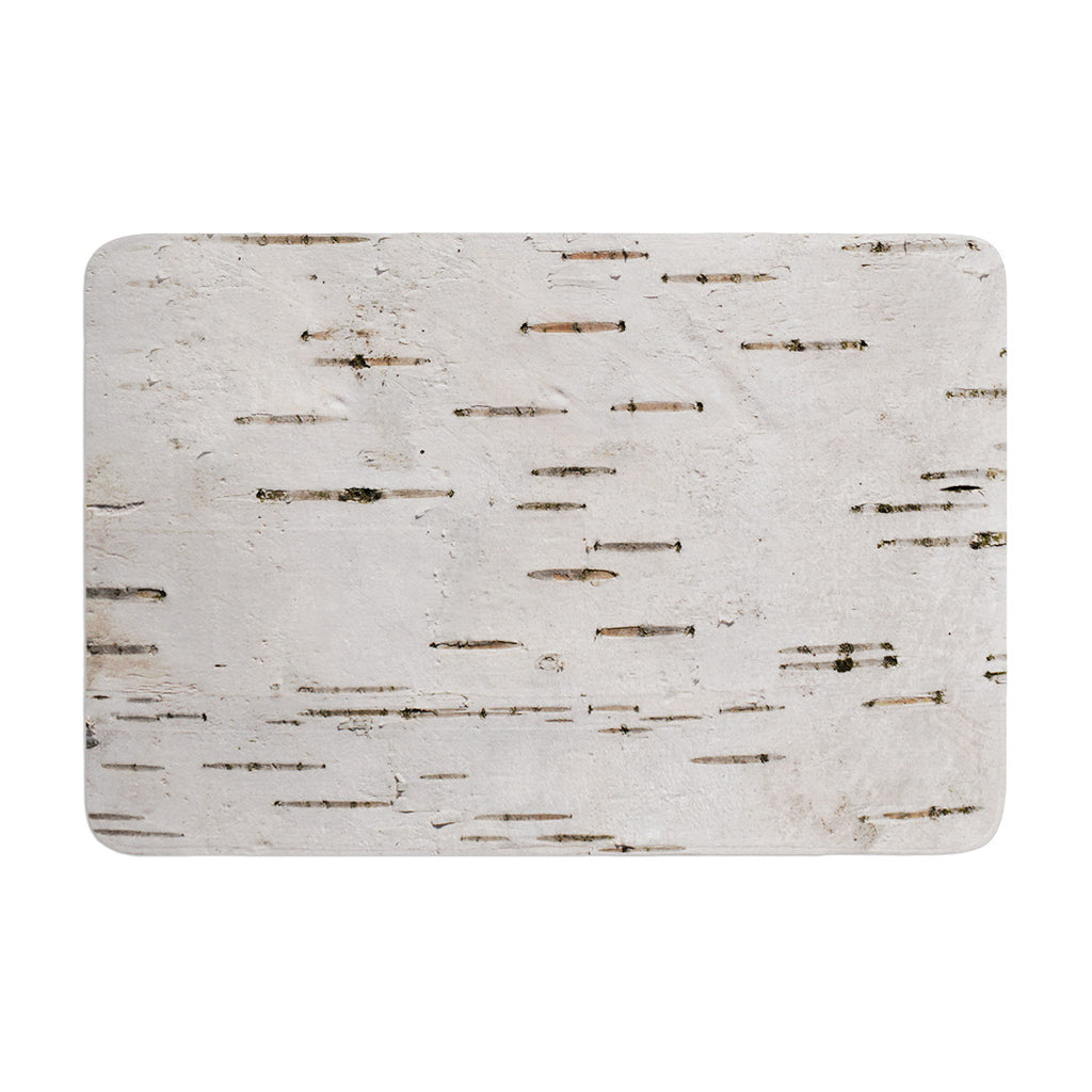 "Susan Sanders ""Painted Tree"" White Rustic Memory Foam Bath Mat - KESS InHouse"