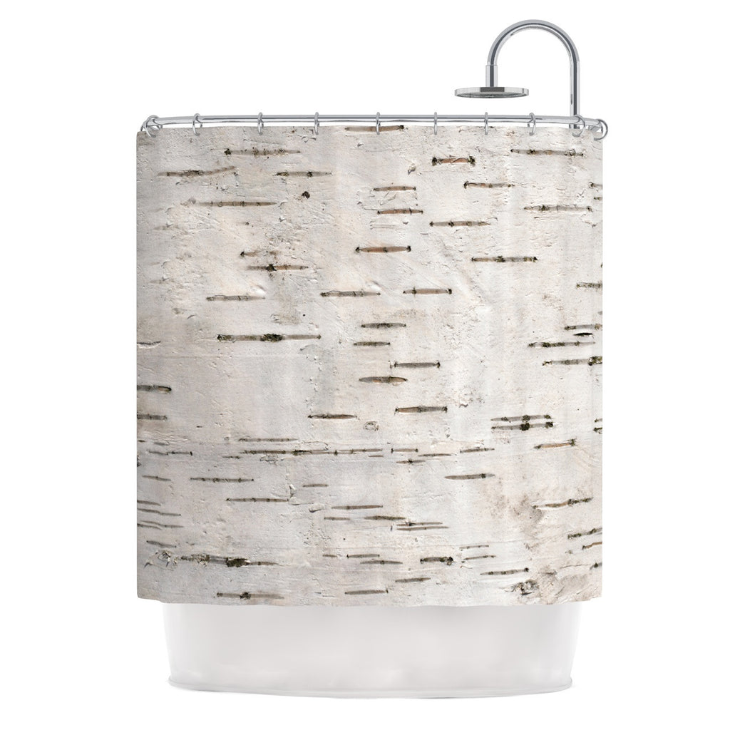 "Susan Sanders ""Painted Tree"" White Rustic Shower Curtain - KESS InHouse"