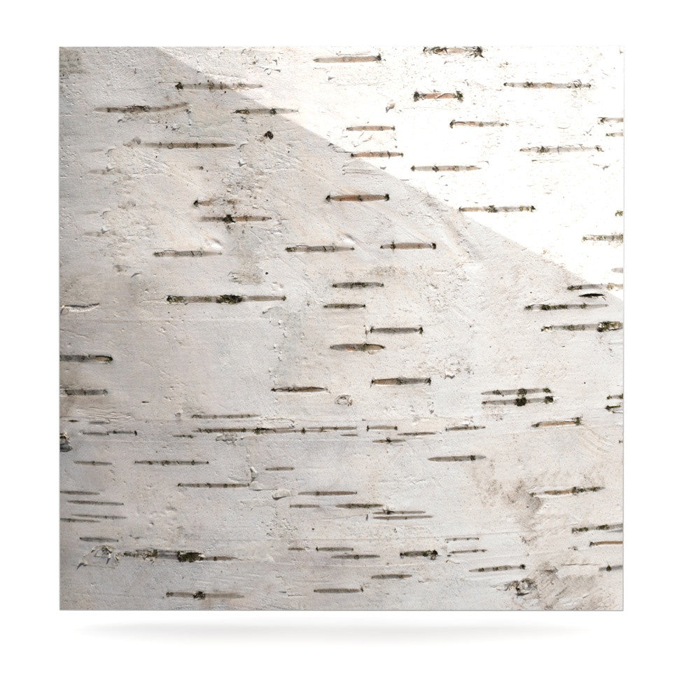 "Susan Sanders ""Painted Tree"" White Rustic Luxe Square Panel - KESS InHouse  - 1"