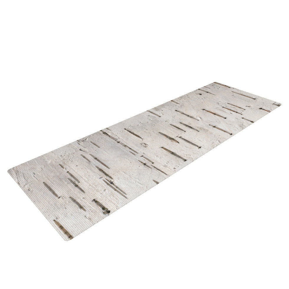 "Susan Sanders ""Painted Tree"" White Rustic Yoga Mat - KESS InHouse  - 1"