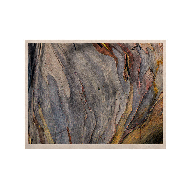 "Susan Sanders ""Milky Wood"" Gray Brown KESS Naturals Canvas (Frame not Included) - KESS InHouse  - 1"