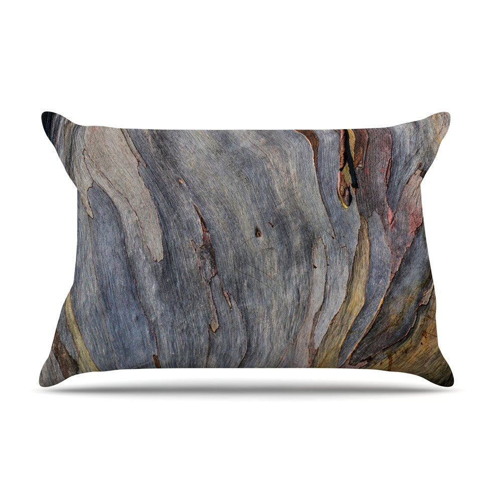 "Susan Sanders ""Milky Wood"" Gray Brown Pillow Sham - KESS InHouse"