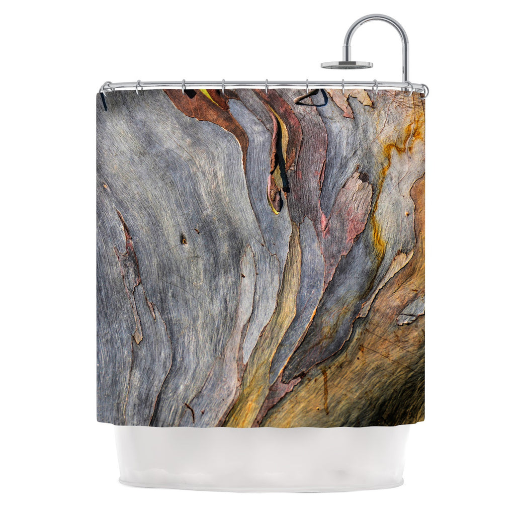 "Susan Sanders ""Milky Wood"" Gray Brown Shower Curtain - KESS InHouse"