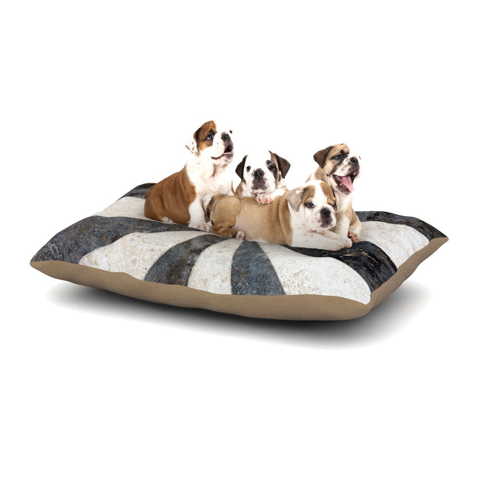 "Susan Sanders ""Stripe Love"" Black White Dog Bed - KESS InHouse  - 1"