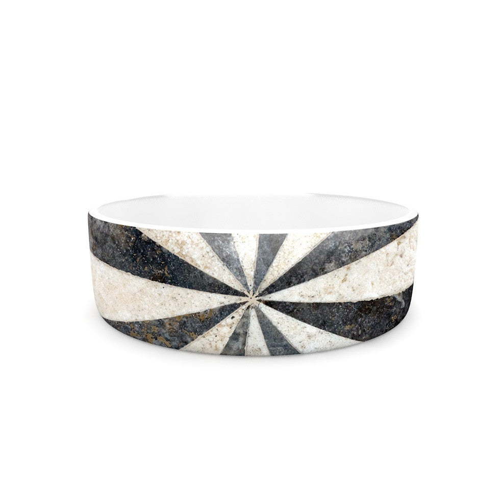 "Susan Sanders ""Stripe Love"" Black White Pet Bowl - KESS InHouse"