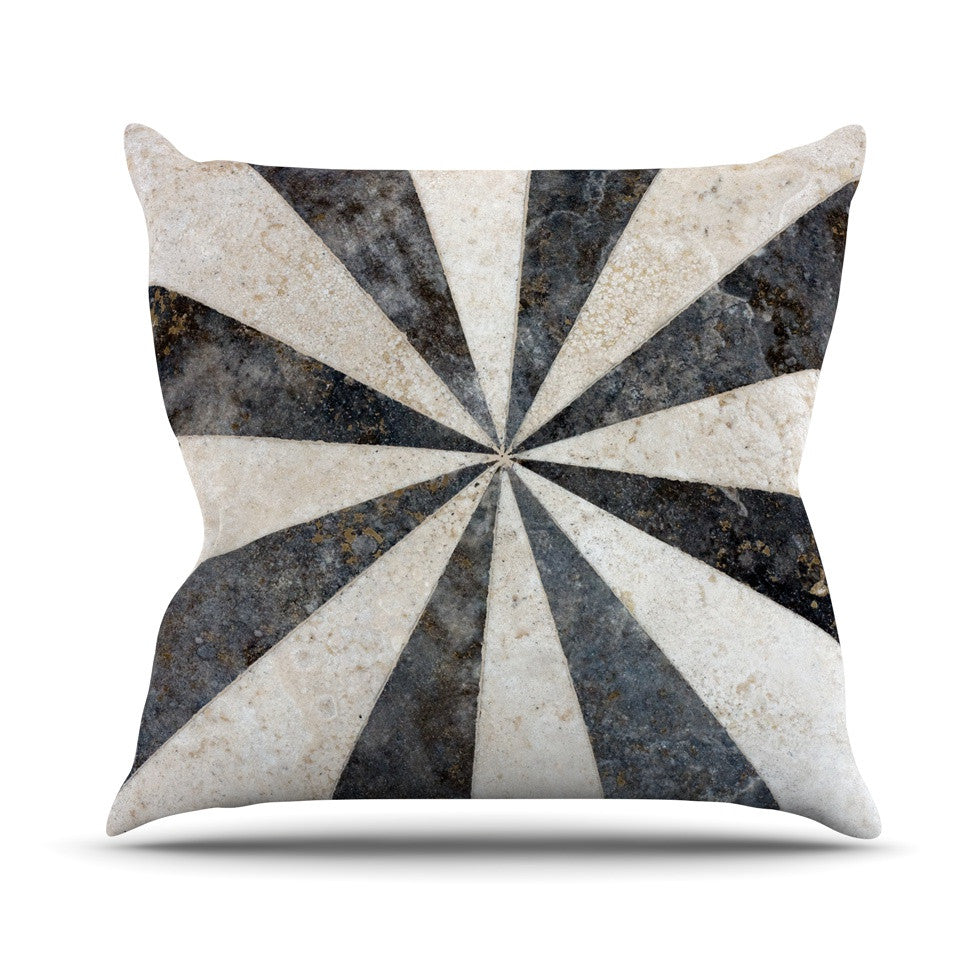 "Susan Sanders ""Stripe Love"" Black White Throw Pillow - KESS InHouse  - 1"