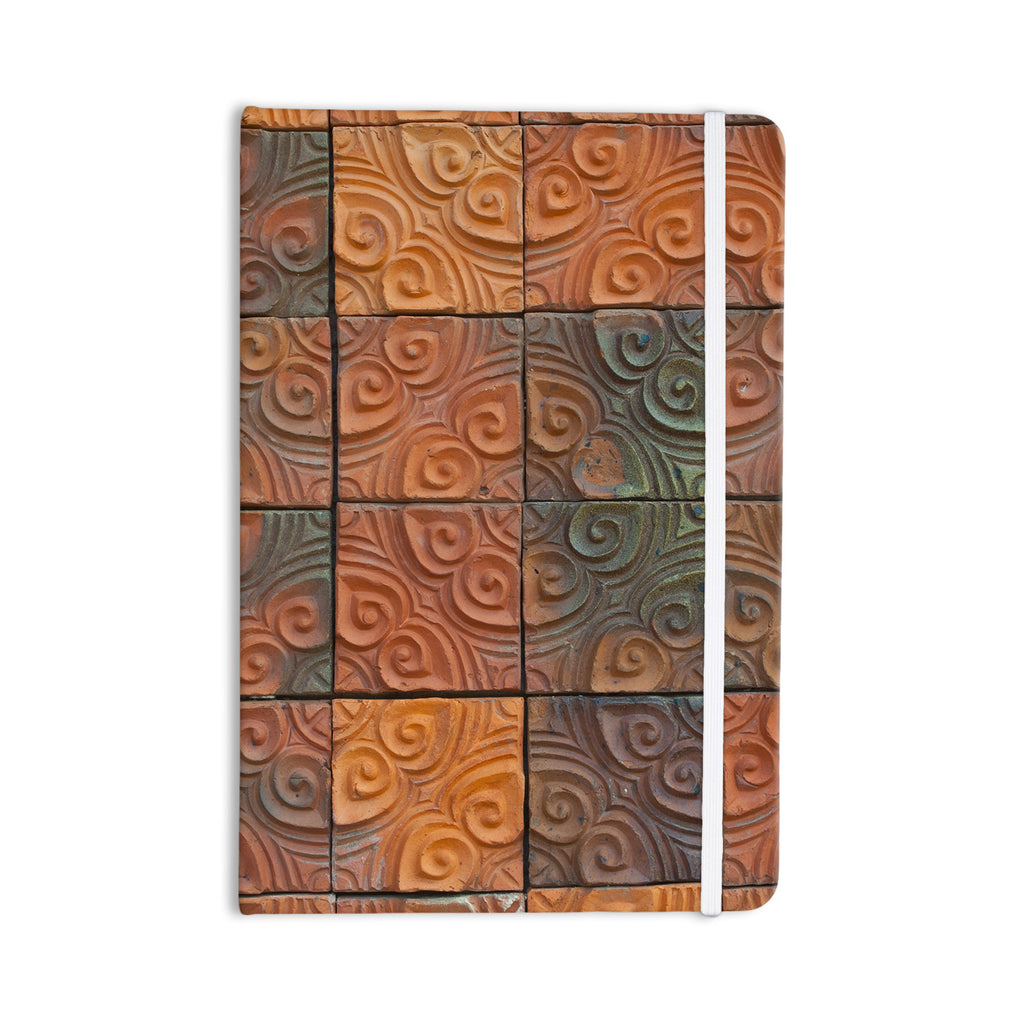 "Susan Sanders ""Whimsy Tile"" Orange Rustic Everything Notebook - KESS InHouse"