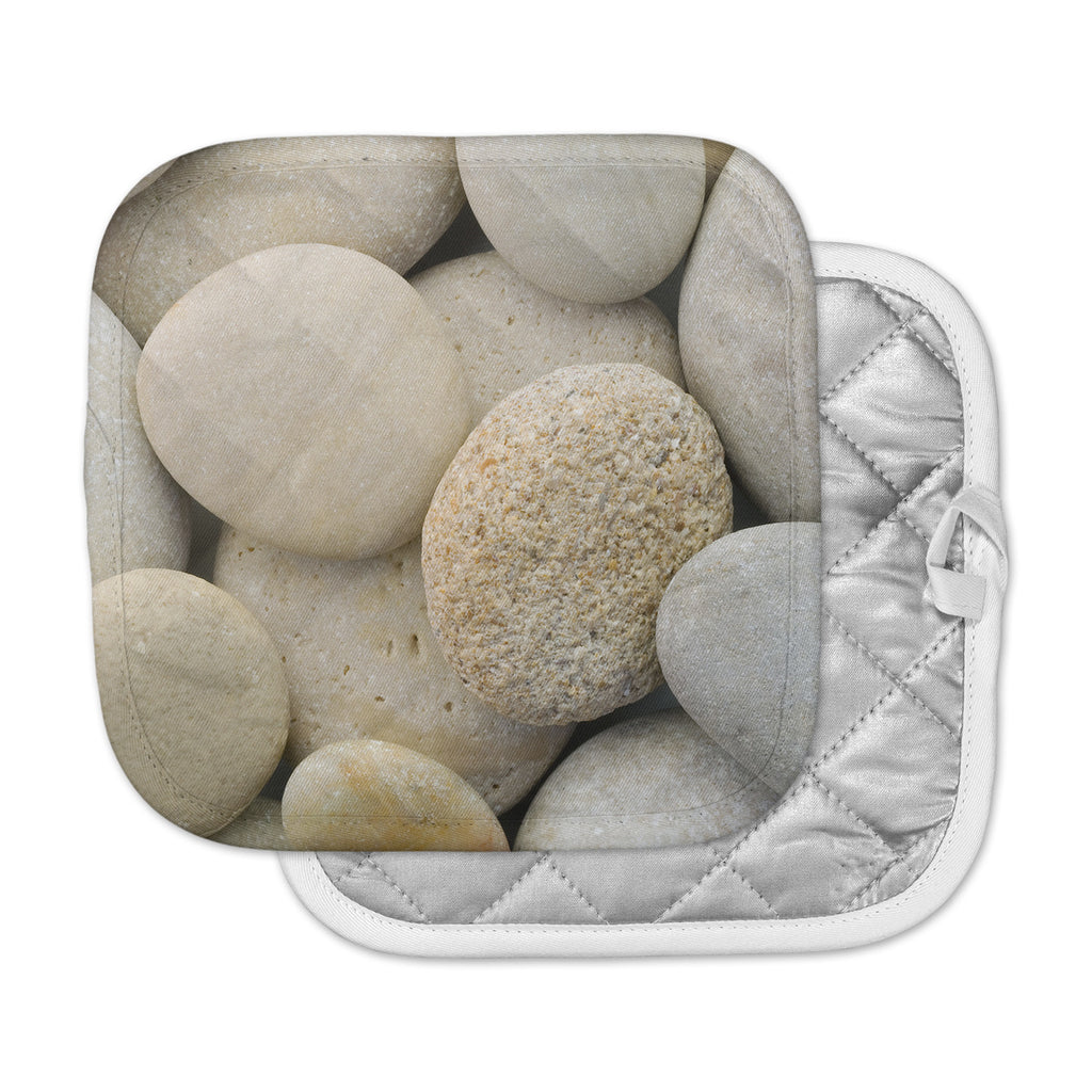 "Susan Sanders ""River Stones"" Gray Pot Holder"