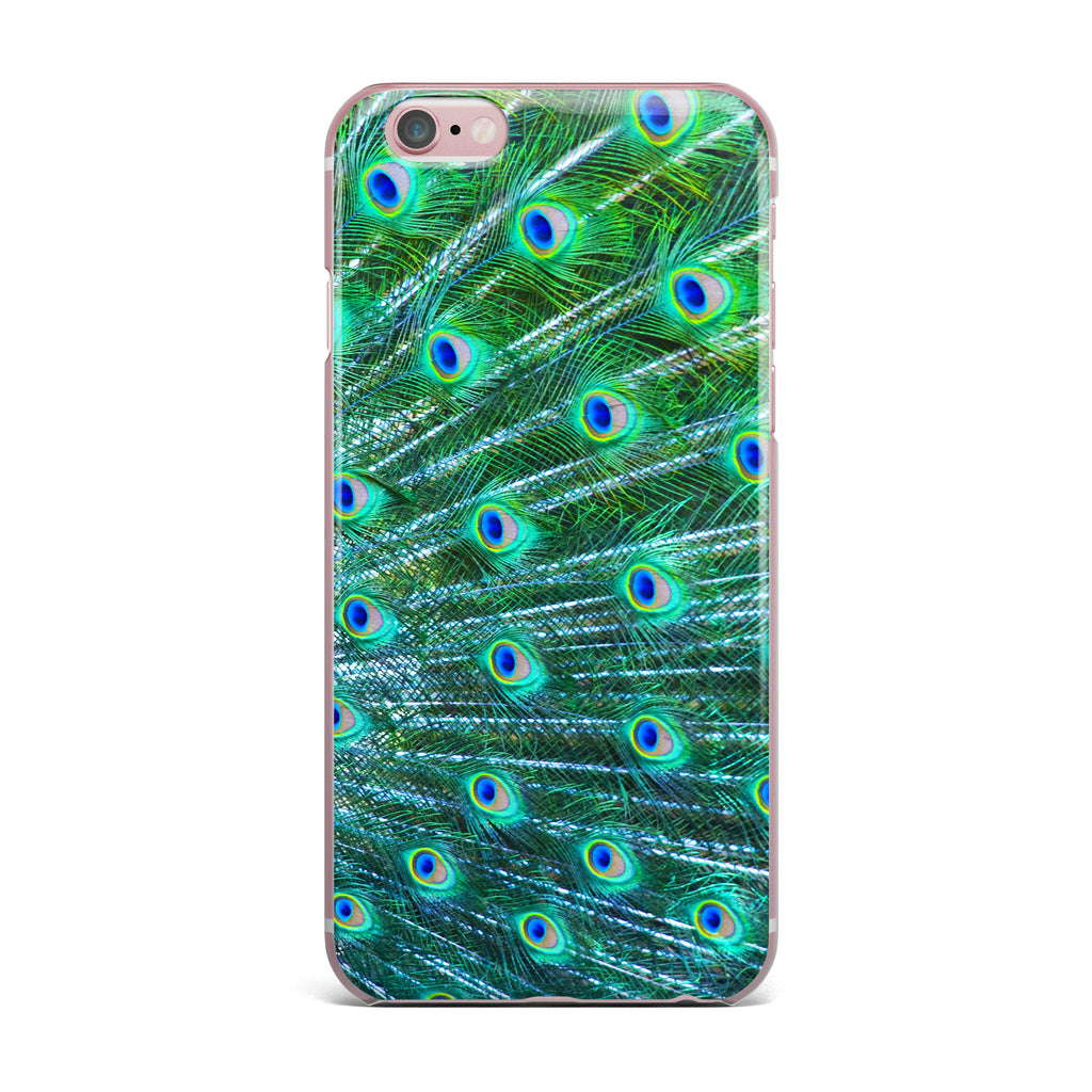 "Susan Sanders ""Teal Blue Peacock Feathers"" Photograph iPhone Case - KESS InHouse"