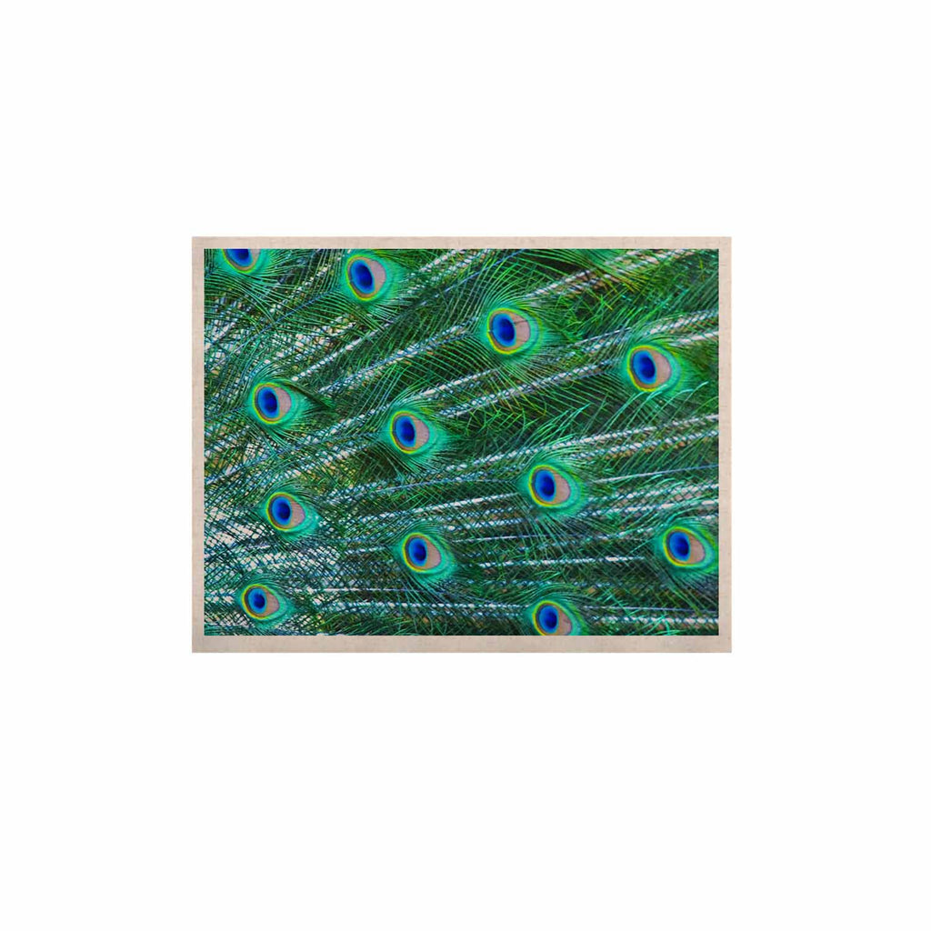 "Susan Sanders ""Teal Blue Peacock Feathers"" Photograph KESS Naturals Canvas (Frame not Included) - KESS InHouse  - 1"