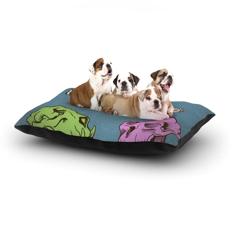 "Sophy Tuttle ""Skulls"" Dog Bed - KESS InHouse  - 1"