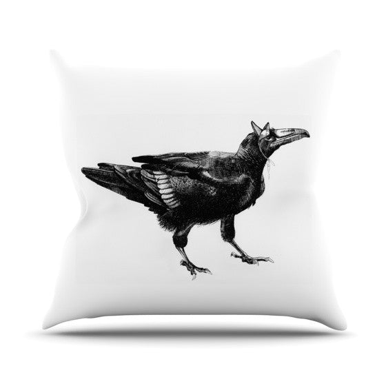 "Sophy Tuttle ""Raven"" Outdoor Throw Pillow - KESS InHouse  - 1"