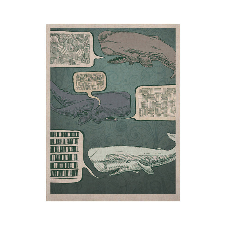 "Sophy Tuttle ""Whale Talk"" KESS Naturals Canvas (Frame not Included) - KESS InHouse  - 1"