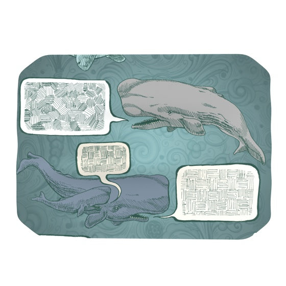 "Sophy Tuttle ""Whale Talk"" Place Mat - KESS InHouse"