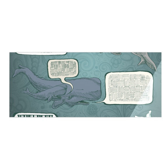 "Sophy Tuttle ""Whale Talk"" Luxe Rectangle Panel - KESS InHouse  - 1"