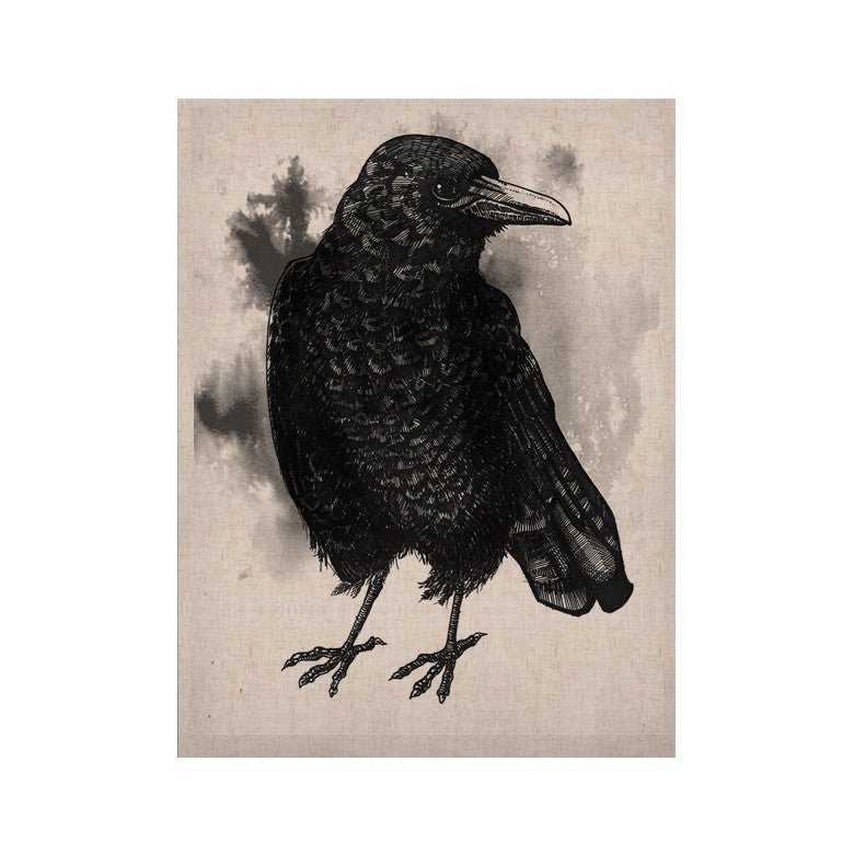 "Sophy Tuttle ""Crow"" Black White KESS Naturals Canvas (Frame not Included) - KESS InHouse  - 1"