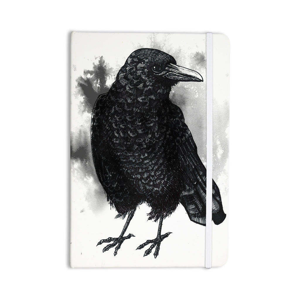 "Sophy Tuttle ""Crow"" Black White Everything Notebook - KESS InHouse  - 1"