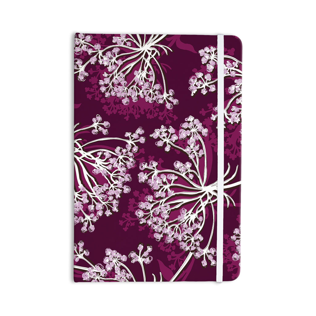 "Suzie Tremel ""Squiggly Floral"" Pink White Everything Notebook - KESS InHouse  - 1"