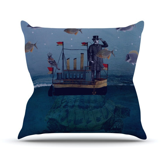 "Suzanne Carter ""The Voyage"" Outdoor Throw Pillow - KESS InHouse  - 1"