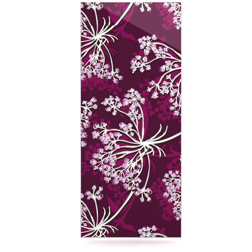 "Suzie Tremel ""Squiggly Floral"" Pink White Luxe Rectangle Panel - KESS InHouse  - 1"
