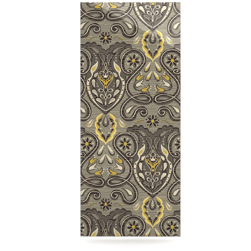 "Suzie Tremel ""Vintage Damask"" Brown Gold Luxe Rectangle Panel - KESS InHouse  - 1"