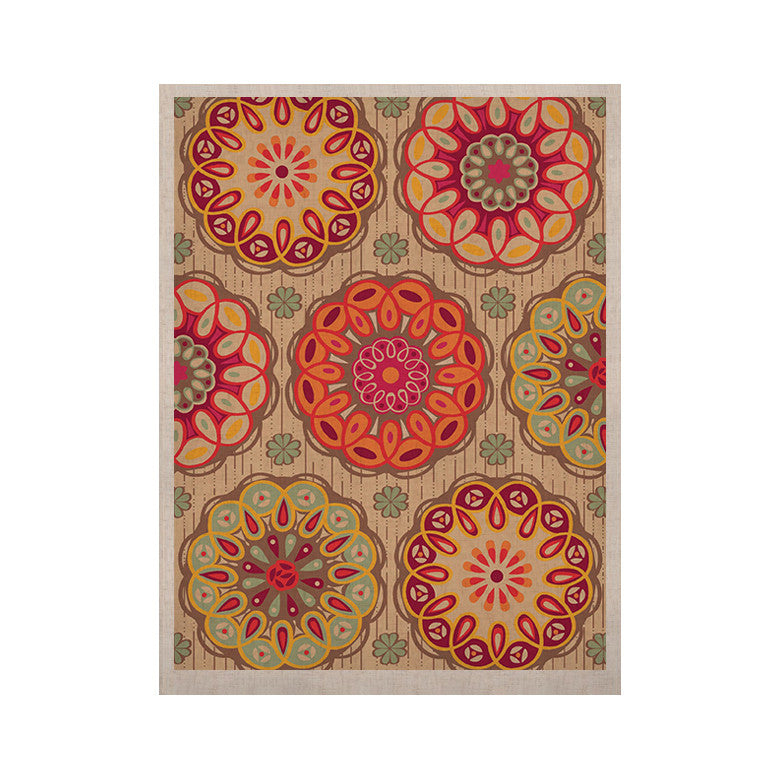 "Suzie Tremel ""Festival Folklore"" Vintage Floral KESS Naturals Canvas (Frame not Included) - KESS InHouse  - 1"