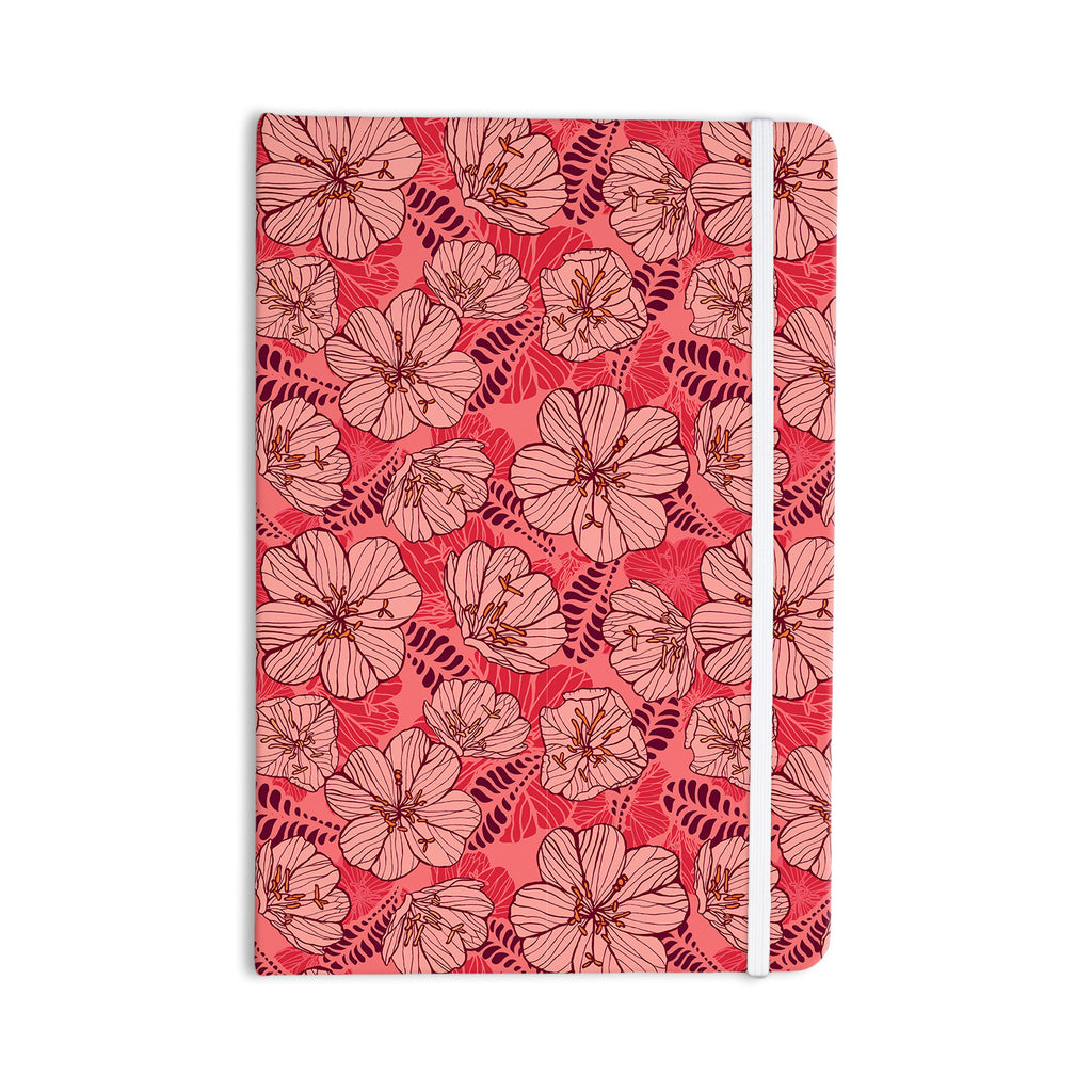 "Suzie Tremel ""Flutter Floral"" Red Petals Everything Notebook - KESS InHouse  - 1"