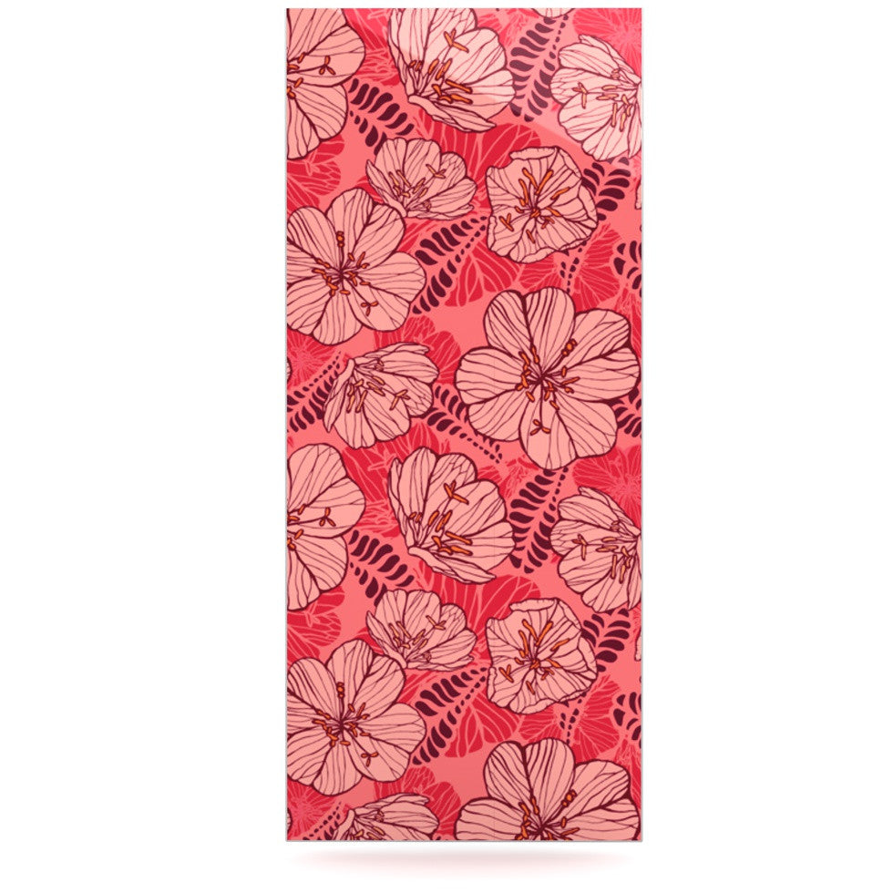 "Suzie Tremel ""Flutter Floral"" Red Petals Luxe Rectangle Panel - KESS InHouse  - 1"