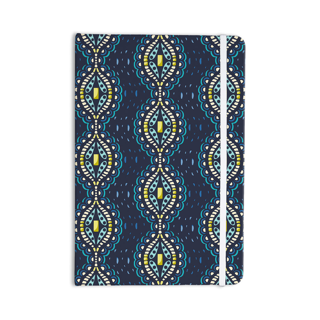 "Suzie Tremel ""Ogee Lace"" Navy Blue Everything Notebook - KESS InHouse  - 1"