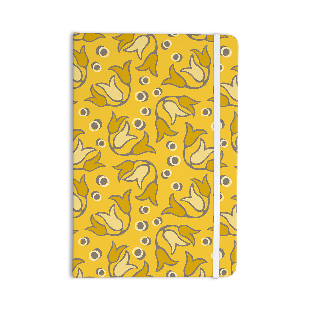 "Suzie Tremel ""Tulip Toss"" Yellow Petals Everything Notebook - KESS InHouse  - 1"