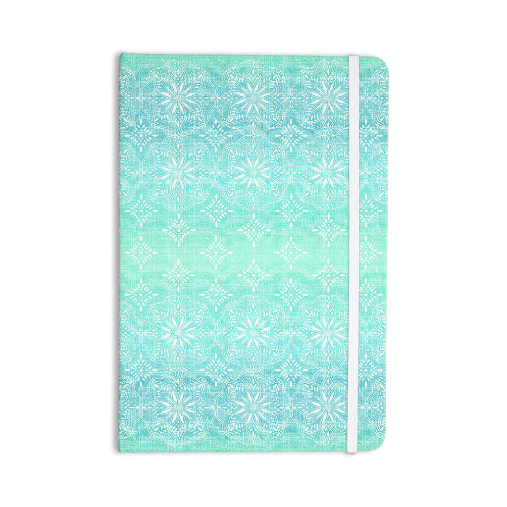 "Suzie Tremel ""Medallion Aqua Ombre"" Blue Teal Everything Notebook - KESS InHouse  - 1"