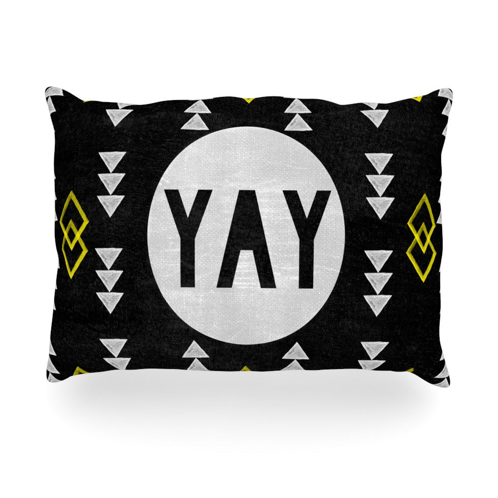 "Skye Zambrana ""Yay"" Oblong Pillow - KESS InHouse"