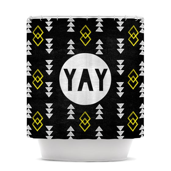 "Skye Zambrana ""Yay"" Shower Curtain - KESS InHouse"