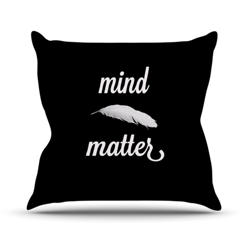 "Skye Zambrana ""Mind Over Matter"" Throw Pillow - KESS InHouse  - 1"