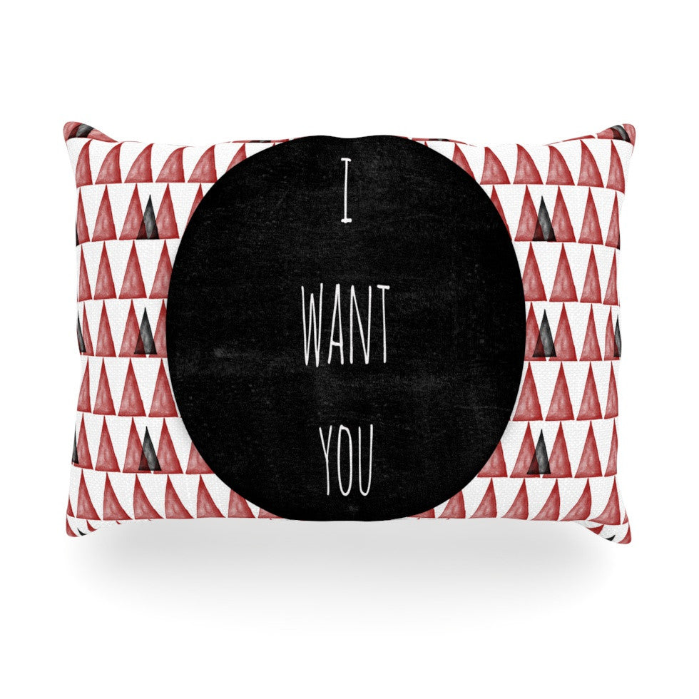 "Skye Zambrana ""I Want You"" Oblong Pillow - KESS InHouse"