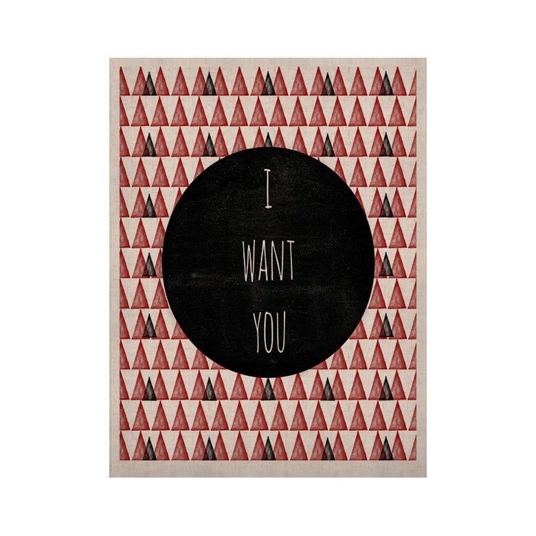 "Skye Zambrana ""I Want You"" KESS Naturals Canvas (Frame not Included) - KESS InHouse  - 1"
