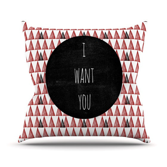 "Skye Zambrana ""I Want You"" Outdoor Throw Pillow - KESS InHouse  - 1"