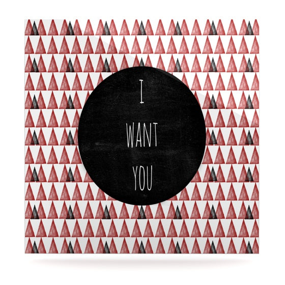 "Skye Zambrana ""I Want You"" Luxe Square Panel - KESS InHouse  - 1"