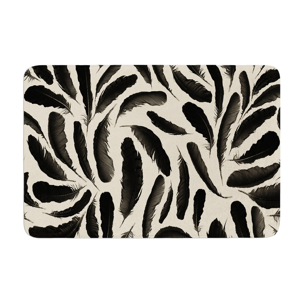 "Skye Zambrana ""Feather Pattern"" Memory Foam Bath Mat - KESS InHouse"