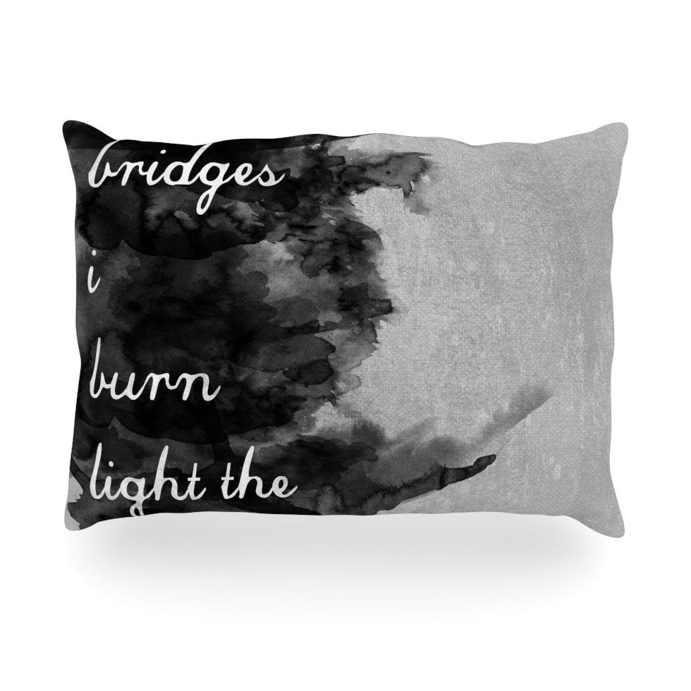 "Skye Zambrana ""Bridges"" Oblong Pillow - KESS InHouse"