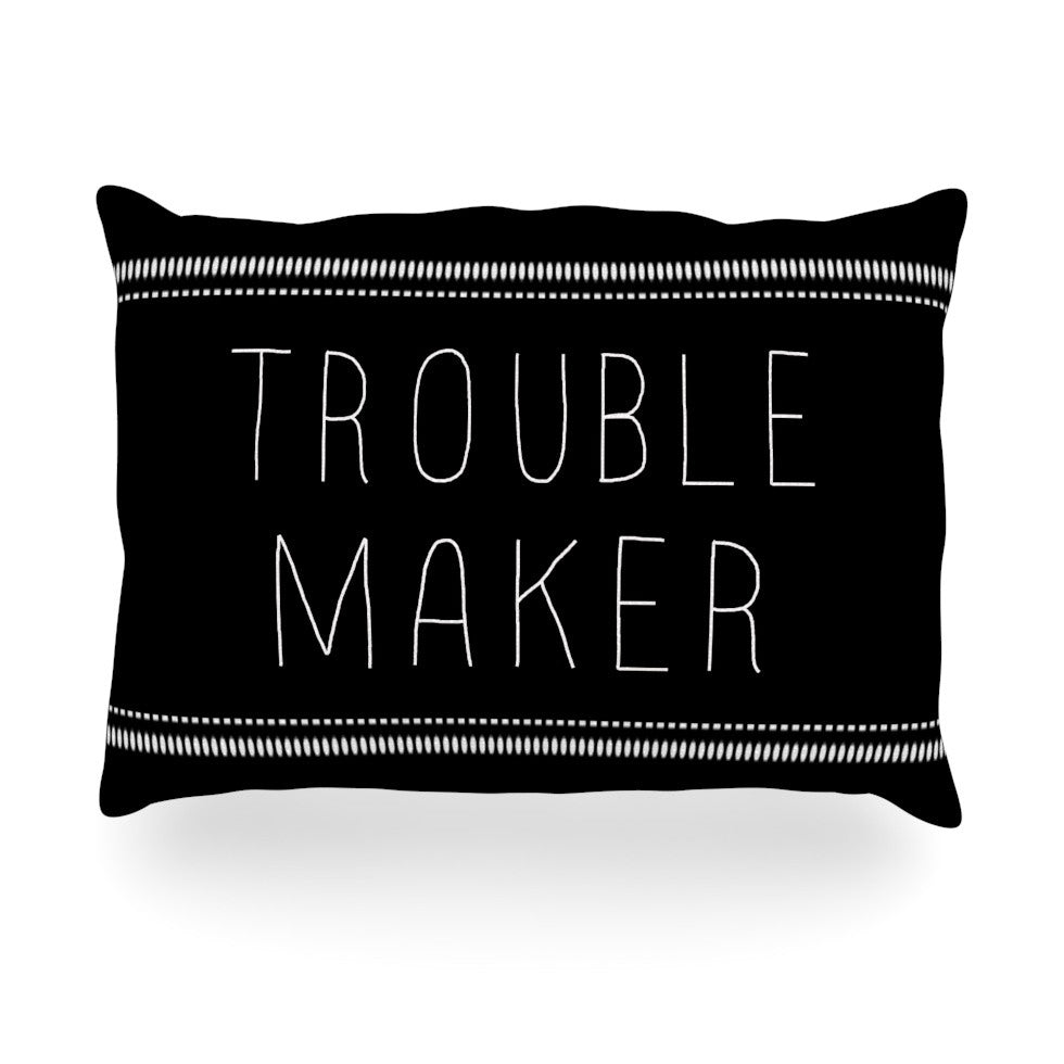 "Skye Zambrana ""Trouble Maker"" Oblong Pillow - KESS InHouse"