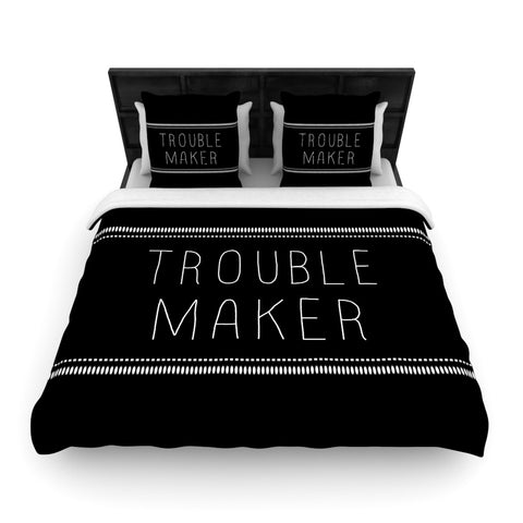 "Skye Zambrana ""Trouble Maker""  Woven Duvet Cover - Outlet Item"