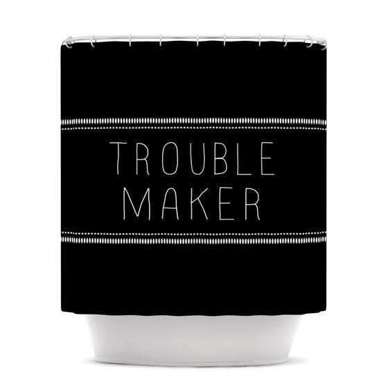 "Skye Zambrana ""Trouble Maker"" Shower Curtain - KESS InHouse"