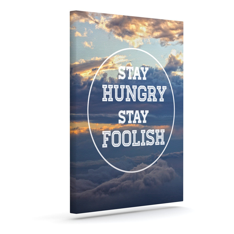"Skye Zambrana ""Stay Hungry"" Outdoor Canvas Wall Art - KESS InHouse  - 1"