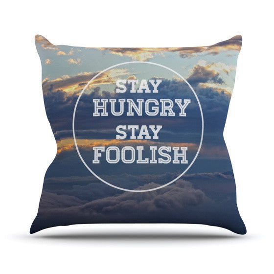 "Skye Zambrana ""Stay Hungry"" Outdoor Throw Pillow - KESS InHouse  - 1"