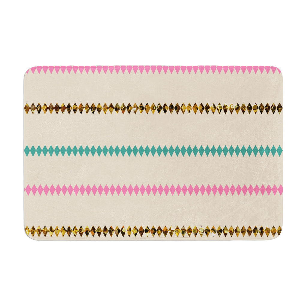 "Skye Zambrana ""Diamonds"" Memory Foam Bath Mat - KESS InHouse"