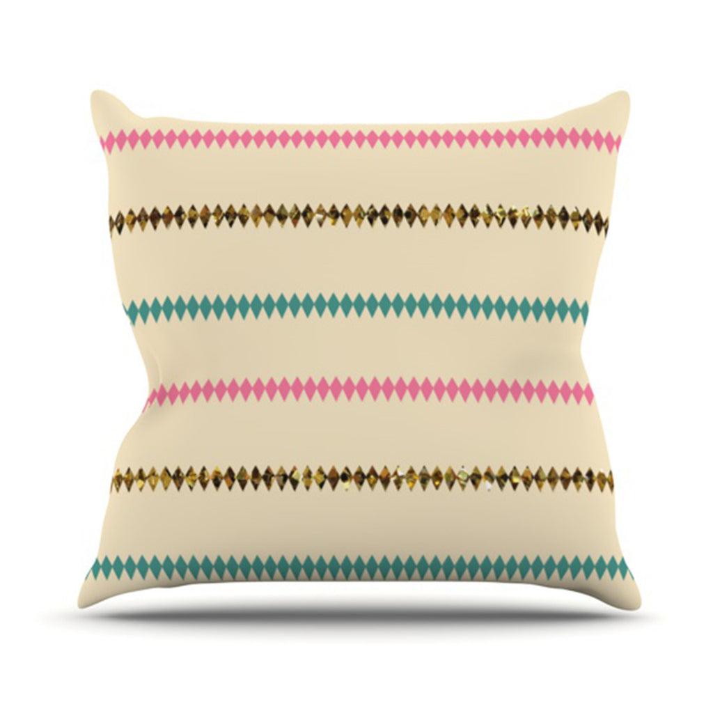 "Skye Zambrana ""Diamonds"" Throw Pillow - KESS InHouse  - 1"